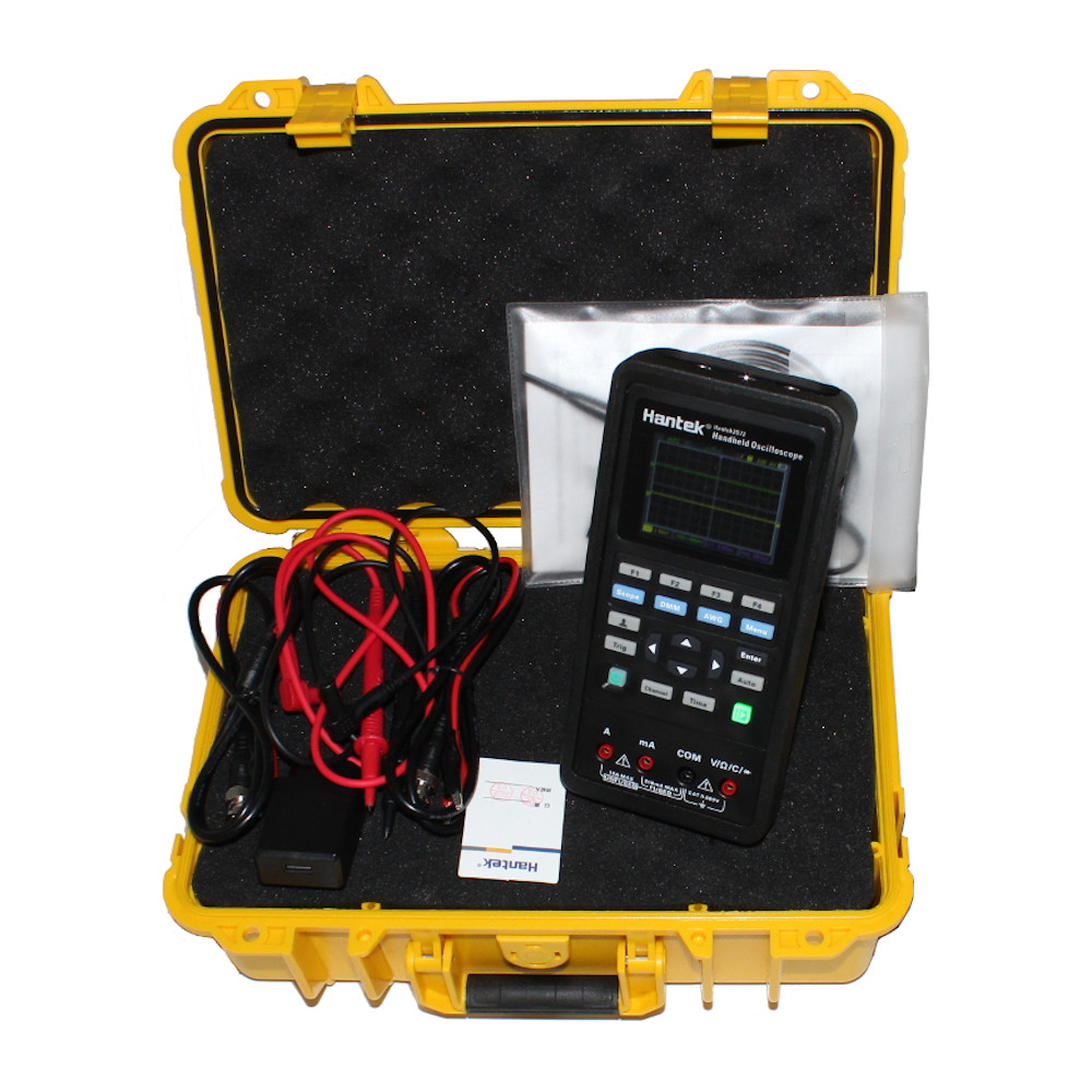 Hantek2D72 3-in-1 70 MHz Oscilloscope, Waveform Generator & Digital Multimeter with a Tactical Safety Case