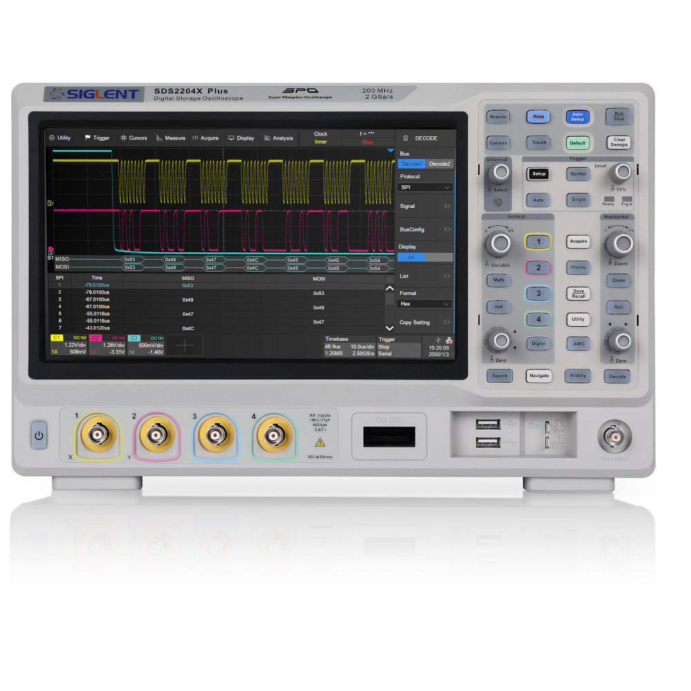 Siglent SDS2204X-PLUS 200MHz 4 Channel Digital Storage Oscilloscope