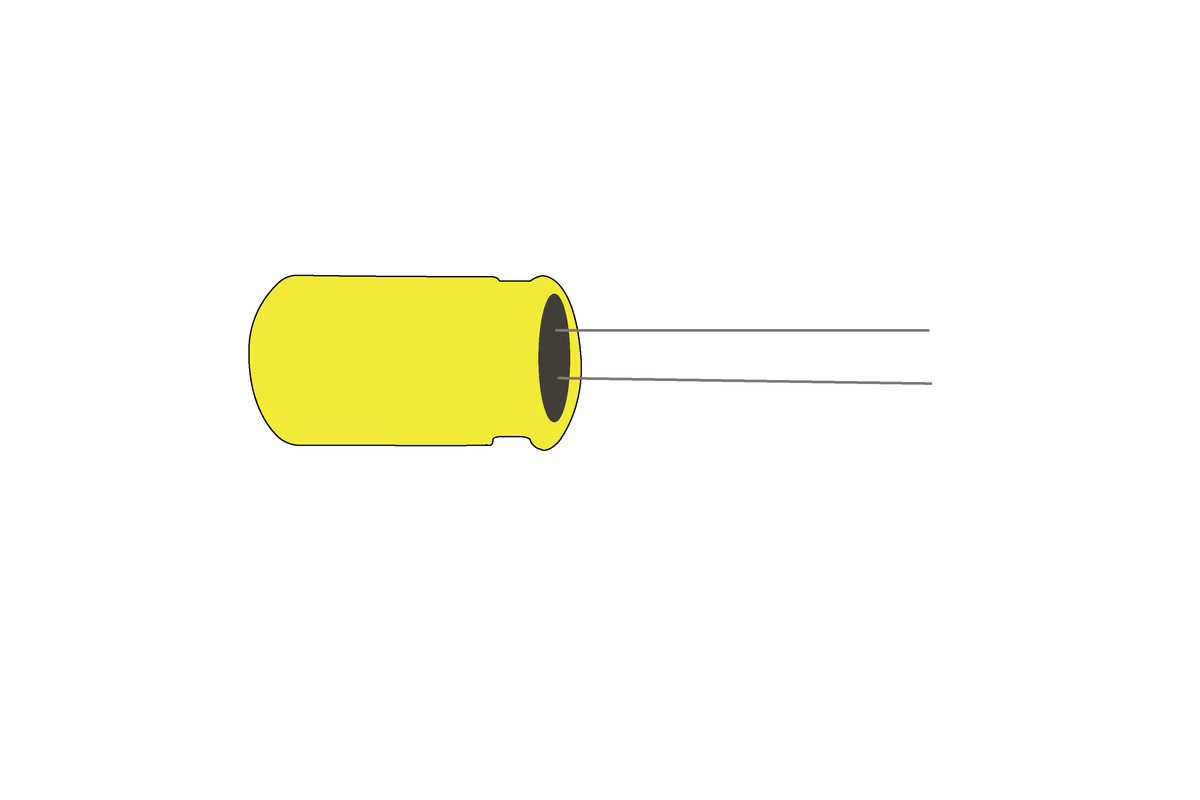 2.2 µF, 50V Miniature Radial Electrolytic Capacitor