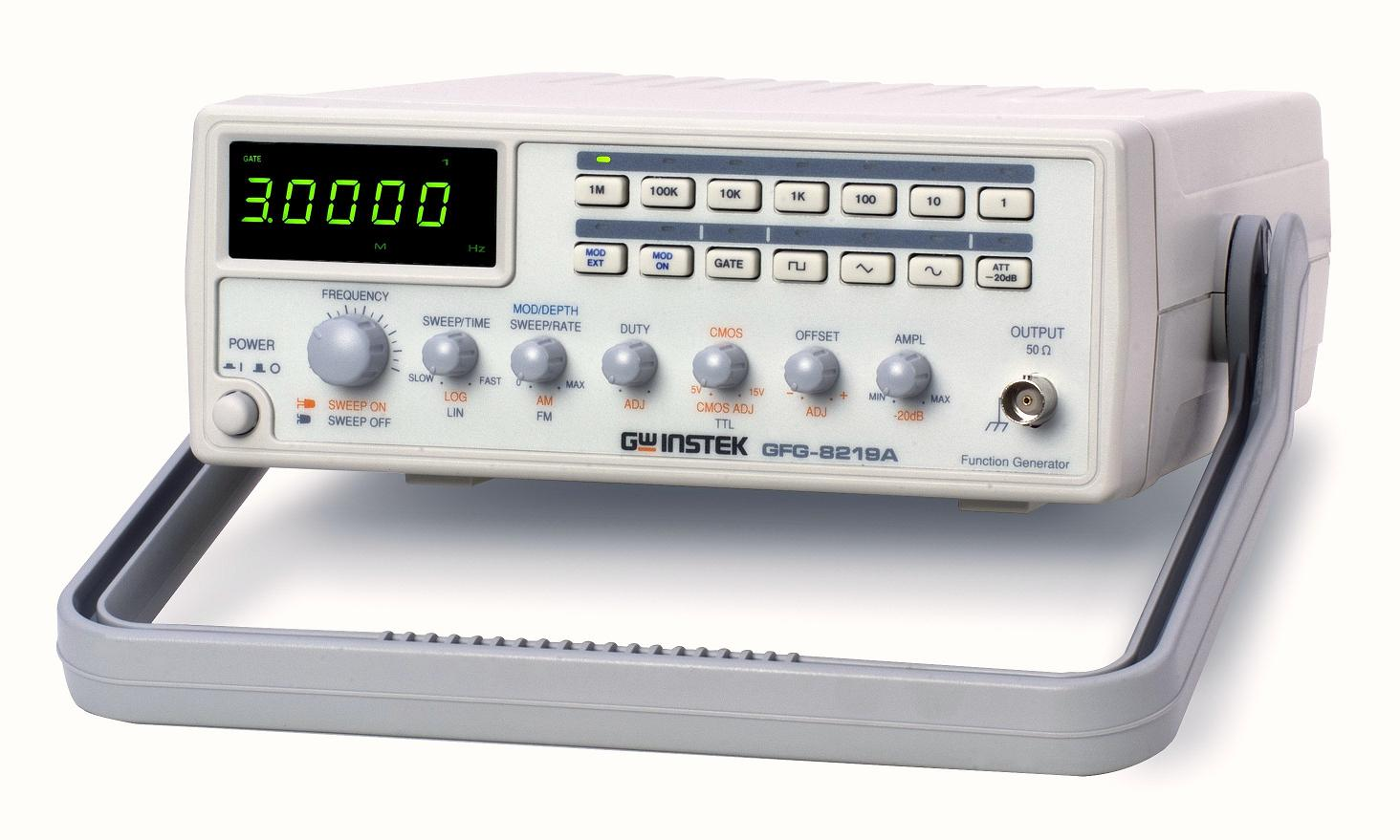 Instek 3mhz Function Generator W Ext Counter Sweep Am Fm Gfg 8219a 1hz To 1mhz Frequency Meter With Digital Display