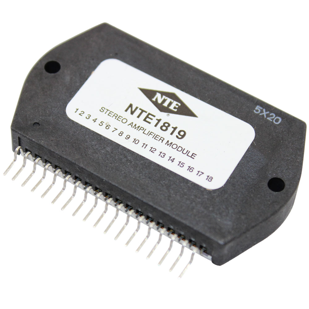 Integrated Circuit Module Af Power Amplifier 30w Ch Nte1819