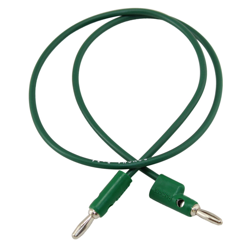 Pomona 24in Green Banana Plug Patch Cord