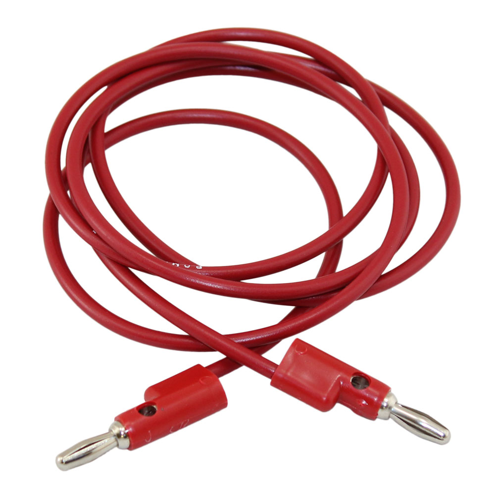 Pomona 48in Red Banana Plug Patch Cord