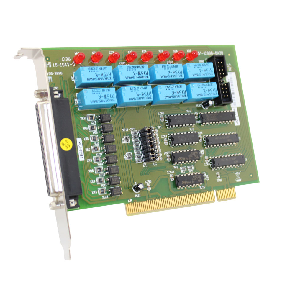 8-CH RELAY OUTPUTS & 8-CH ISOLATED DI PCI CARDS
