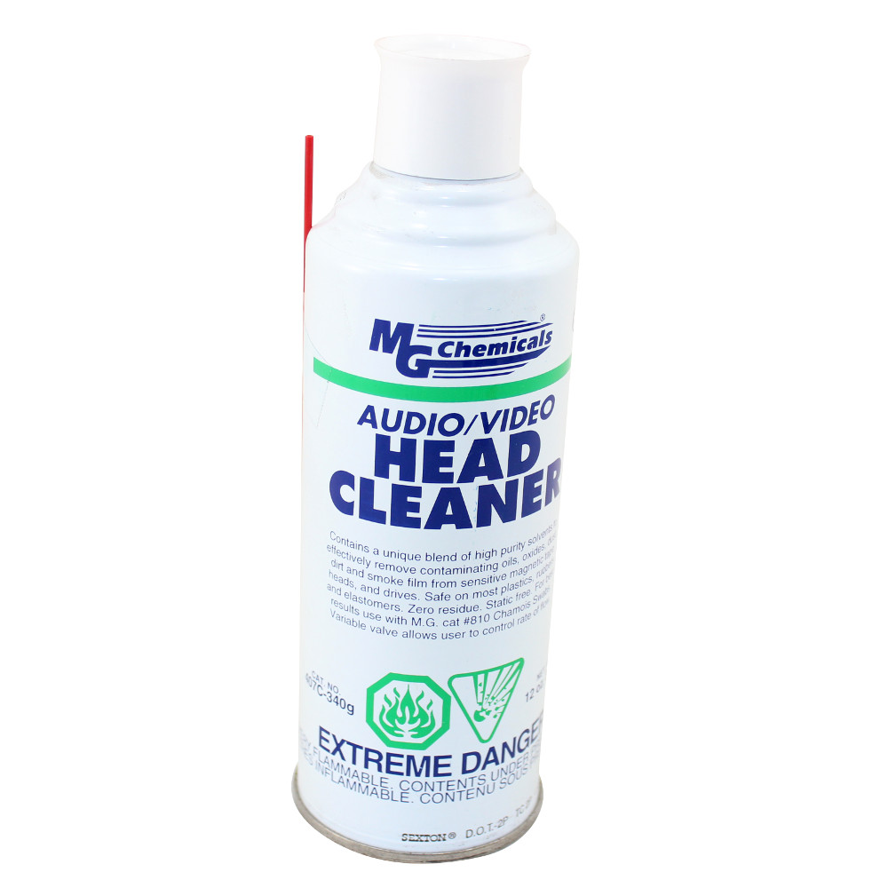 12 Oz Aerosol Audio Video Head Cleaner Contact And Circuit Board