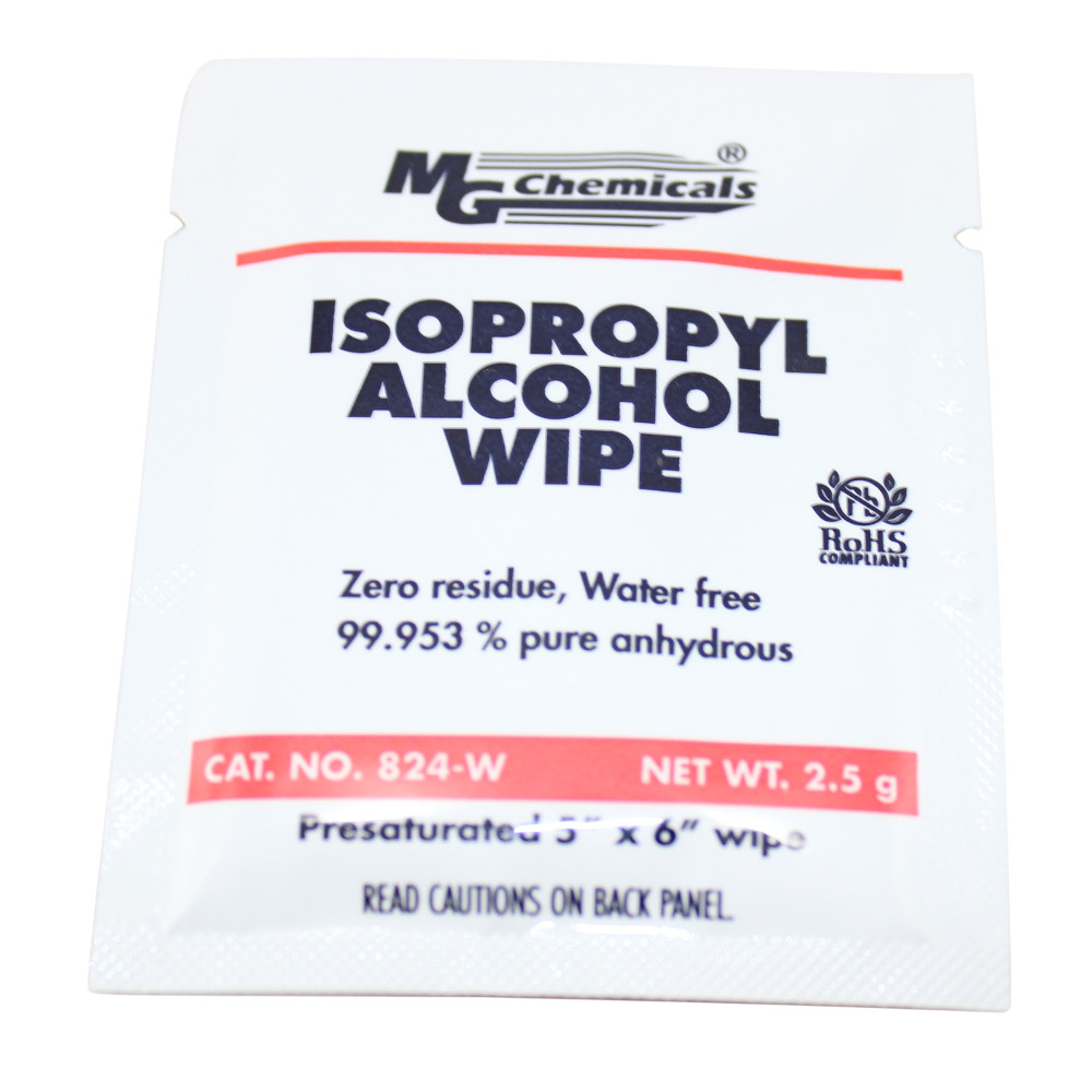 Isopropyl Alcohol Wipes - 25 Pack