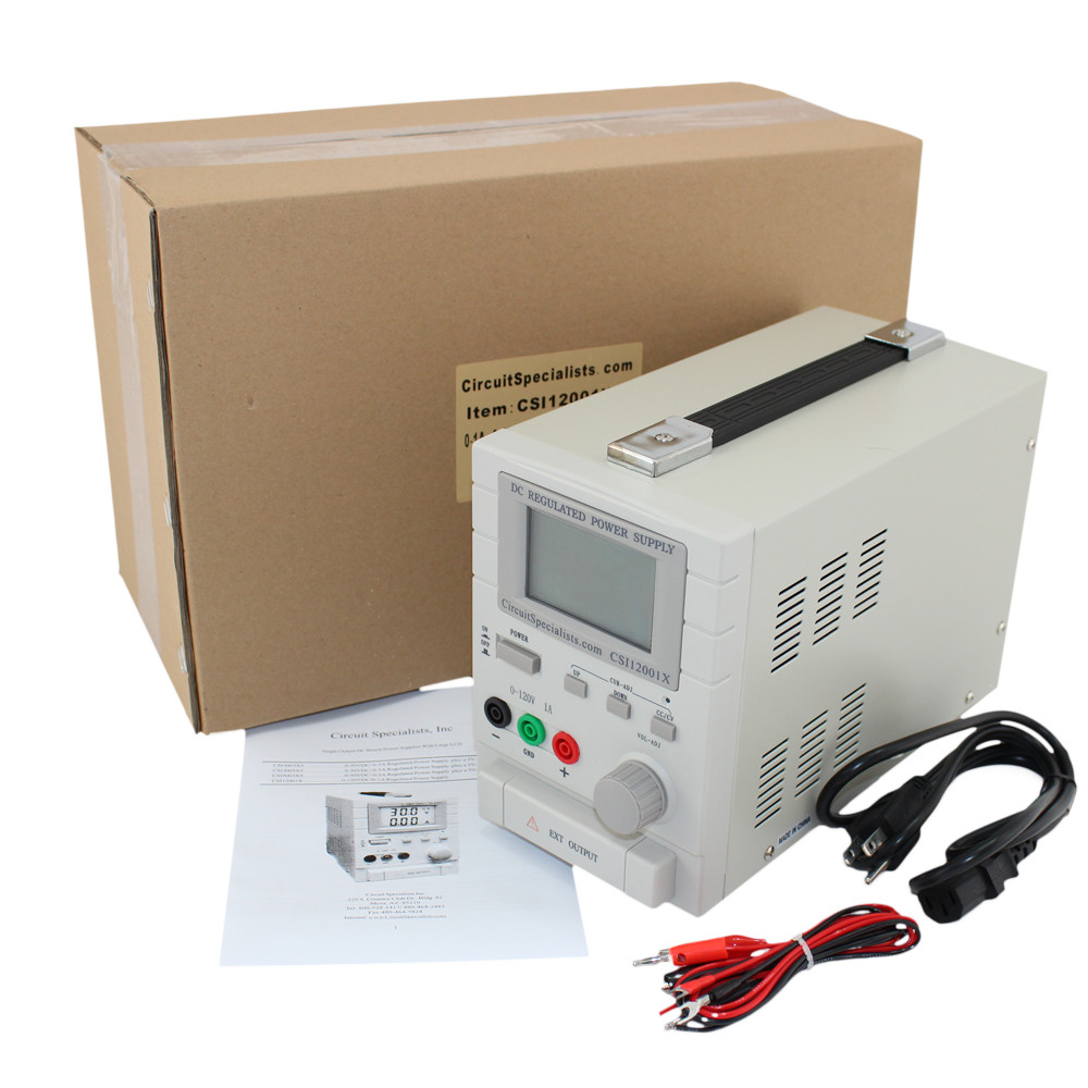 120 Volt DC 1.0 Amp Linear Bench Power Supply