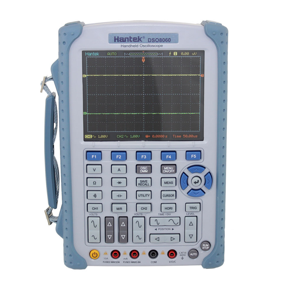 Hantek 60MHz Handheld Oscilloscope with Digital Multimeter and Waveform Generator