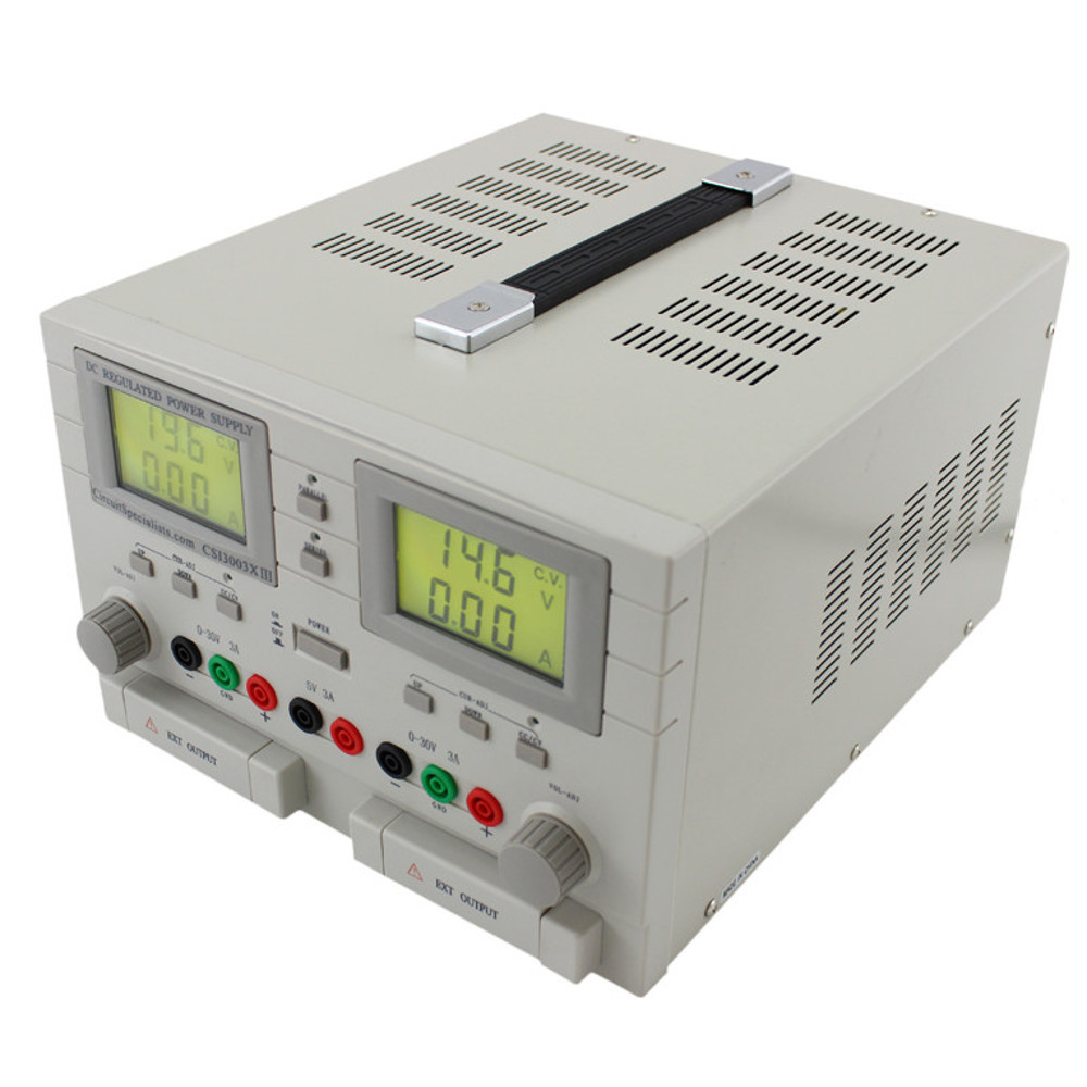 30 Volt DC 3.0 Amp Triple Output Linear Power Supply