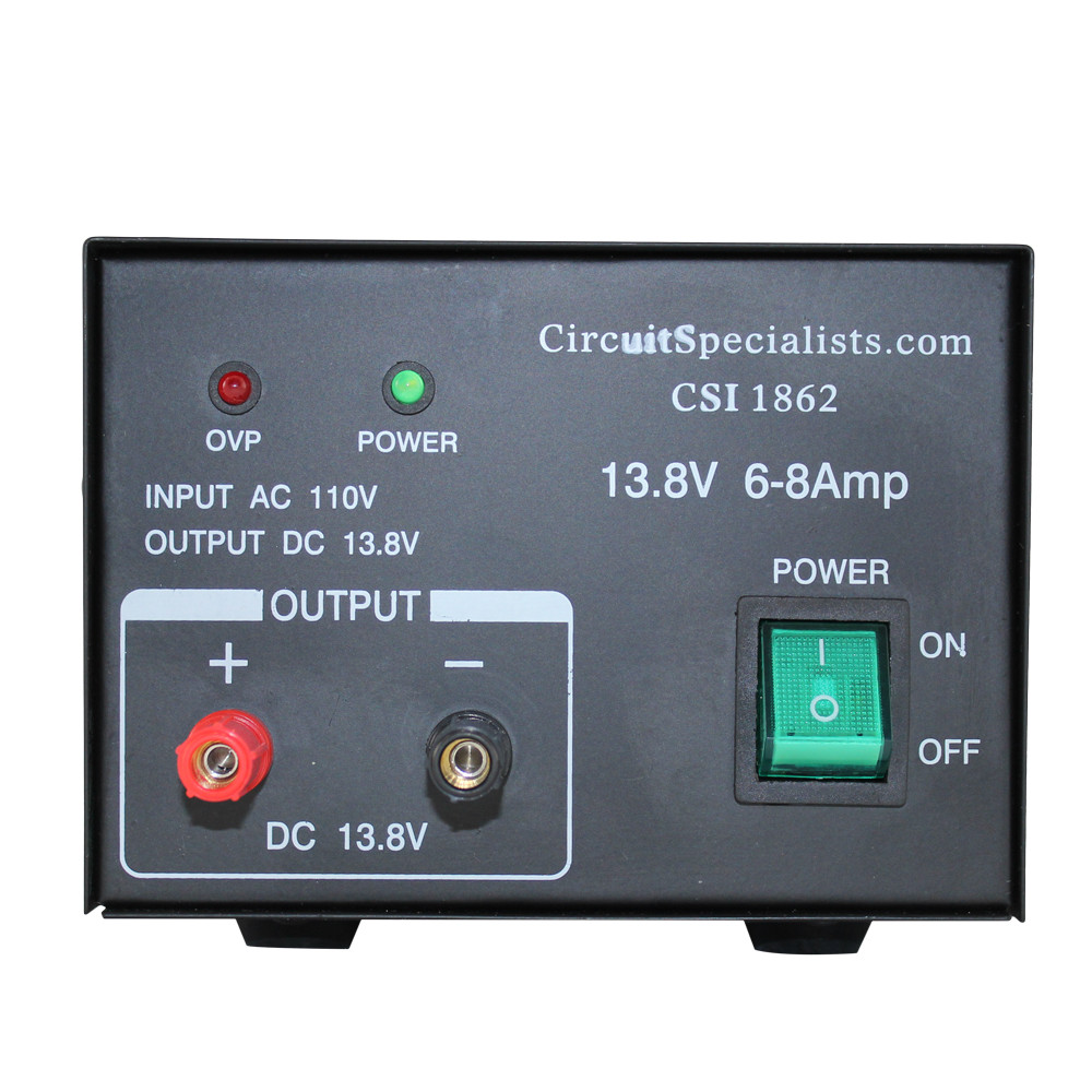13.8 Volt DC 6.0 Amp Regulated Linear Power Supply