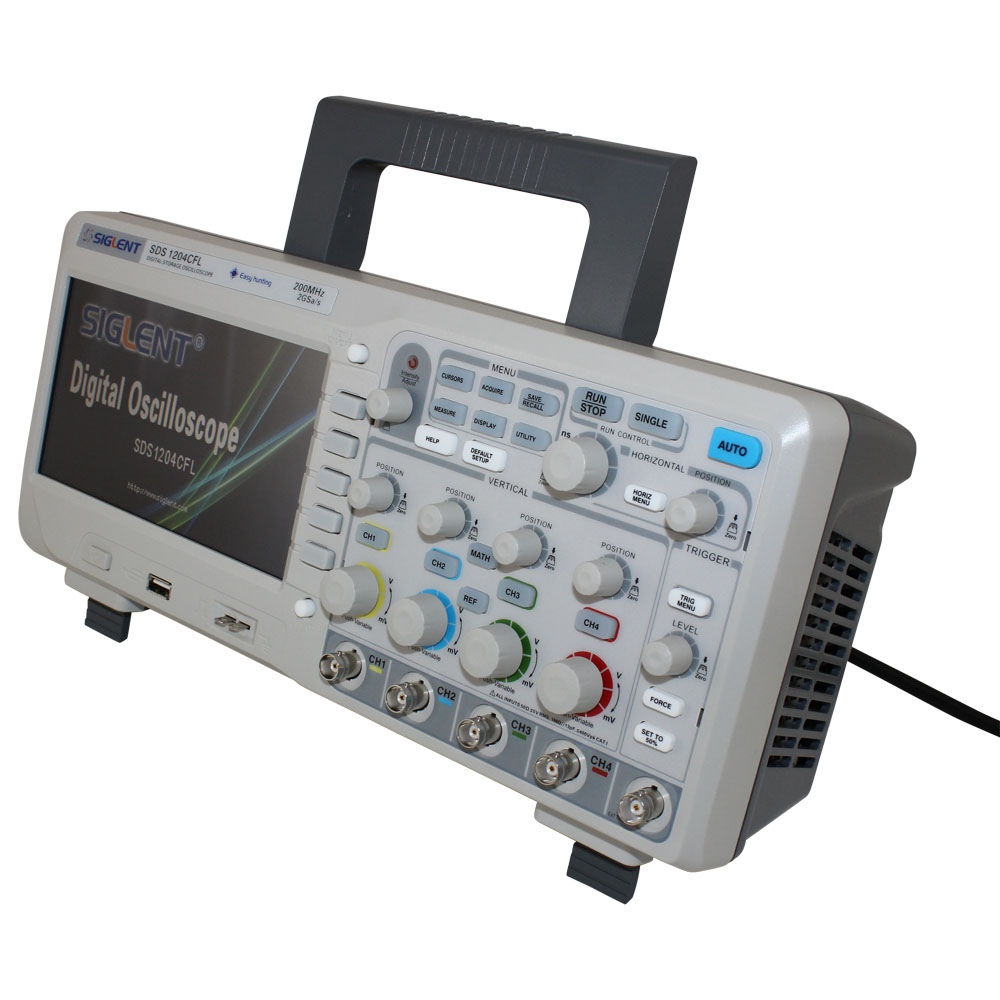 Digital Storage Oscilloscope : New siglent mhz digital storage oscilloscope sds cfl