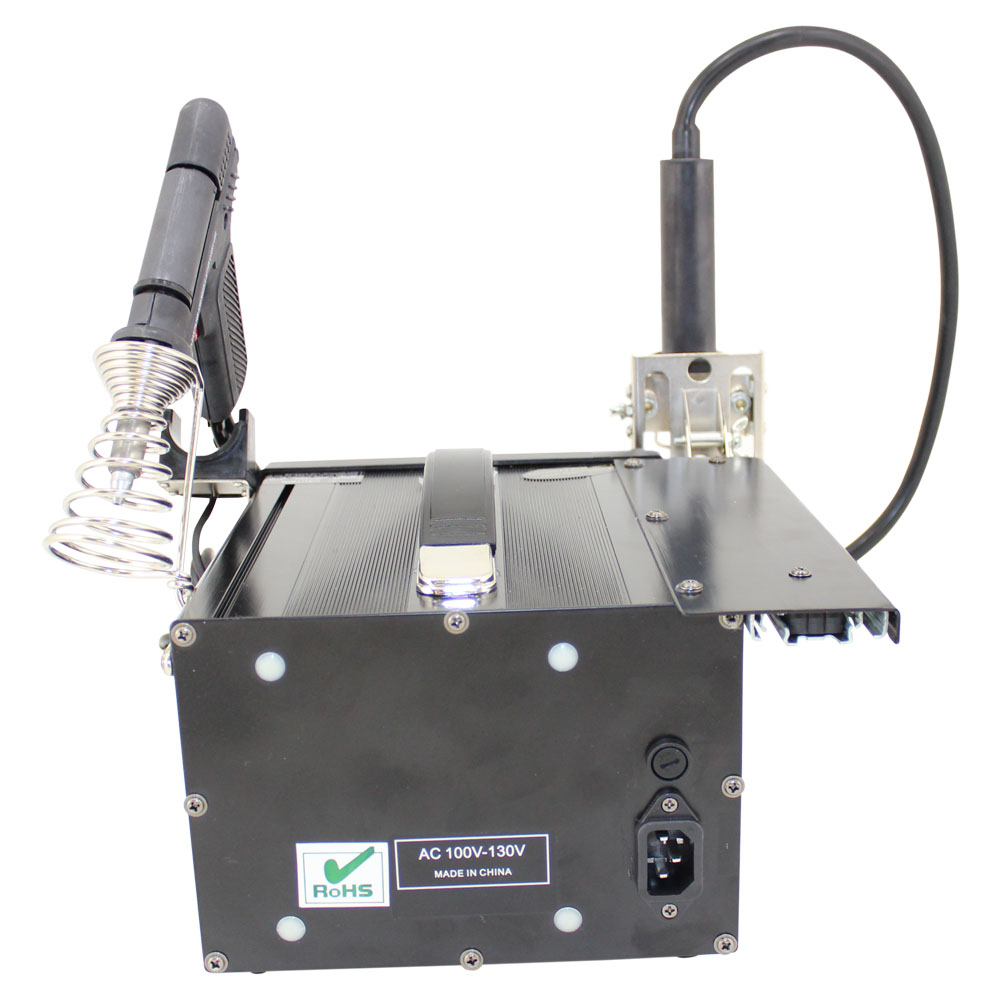 Deluxe Hot Air Station with Hot Air, Soldering Iron, Suction Gun & Mechanical Arm (Replaced by BK8000)