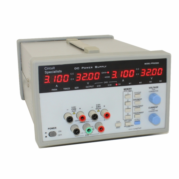 32 Volt Dc Programmable Triple Output Power Supply 5 Amps