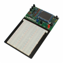 Powered Breadboard with integrated oscilloscope, function generator, & analyzer