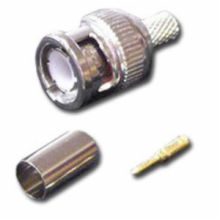 BNC Male Connector, Crimp Style for RG59/U Cable