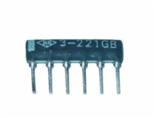 220 Ohm 2% 6 Pin 3 Resistor Thick Film Sip Network