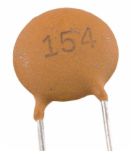 150 pF, 50 Volt ±5% Tolerance Ceramic Disc Capacitor