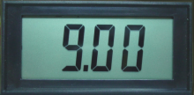 Jumbo LCD Panel Meter, 9V Independent Power Supply Version