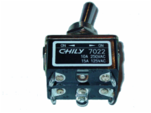 DPDT, ON-ON, 10A/250V Heavy Duty Toggle Switch