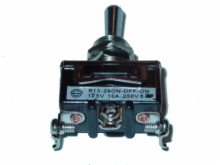 SPDT, ON-OFF-ON, 10A/250V; Heavy Duty Toggle Switch