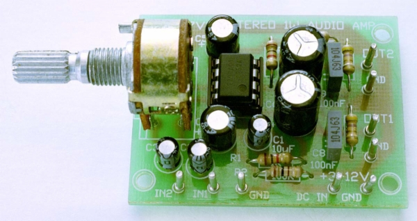 1w Stereo Audio Amp Ka2209 Kit