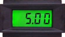3-1/2 Digit LCD Panel Meter with Back Light - Enhanced Version