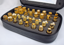 40-Piece Gold Coax Adapter Kit