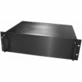3U Black Rack Mt Chassis with Aluminum Front Panel
