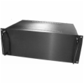 4U Black Rack Mt Chassis with Aluminum Front Panel