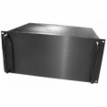 5U Black Rack Mt Chassis with Aluminum Front Panel