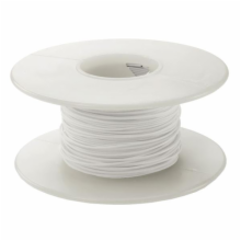 100' 30 AWG Wire Wrapping Wire - White