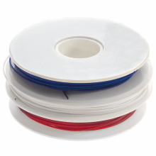 Replacement Roll of 30 AWG (Red-White-Blue) Wire