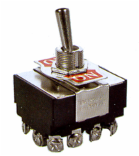 4PDT ON/OFF/ON Heavy Duty Toggle Switch