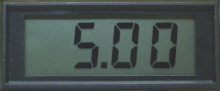 5V Common Ground Version, Miniature LCD Digital Panel Meter