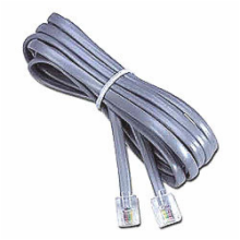 7' Silver Satin Cable Assembly, 6Pos/4Cond Straight 1-1