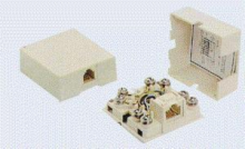 6 Position/6 Conductor Surface Mount Telephone Jack