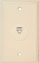 6 Position/4 Conductor Single Telephone Jack Wall Plate