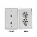 6 Position/4 Conductor Dual Telephone Jack Wall Plate