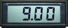 9V Version, C+C Miniature LCD Digital Panel Meter