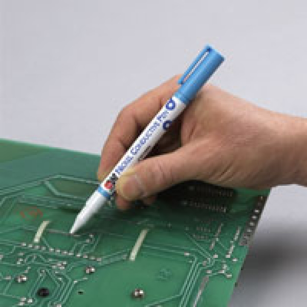 how to clean conductive burn from pcb