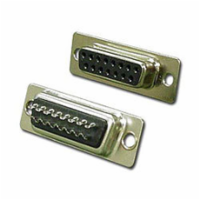 15 Pin Female D-Sub Connector