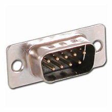 9 Pin Male D-Sub Connector