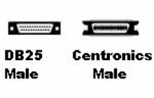 6' Flexi-Lite Cable DB-25 Male to Centronics Male
