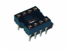8 Pin Machine Tooled Low Profile IC Socket