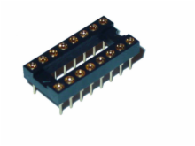 16 Pin Machine Tooled Low Profile IC Socket