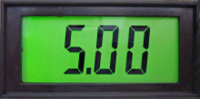 Jumbo LCD Panel Meter with Back Light, 5V Common Ground Version