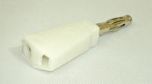 Stackable Banana Plug - 4mm White