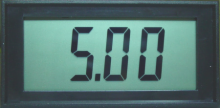 Jumbo LCD Panel Meter, 5V Common Ground Power Supply Version