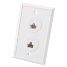 8 Position/8 Conductor Dual Telephone Jack Wall Plate