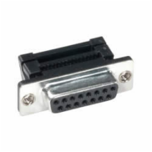 15 Pin Female D-Sub IDC Connector, Metal Face